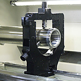 Mandrel being machined